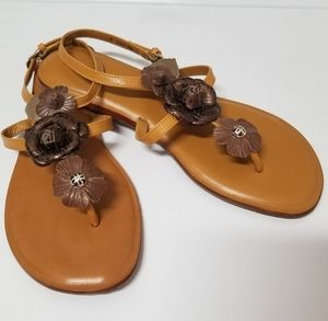 "NWT Brighton ""OZ"" Honey Floral Leather Sandal"